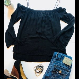 cloth & stone off the shoulder top• size xs